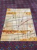 Modern Momeni New Wave Collection abstract wool rug. Approx 96x112 inches.
