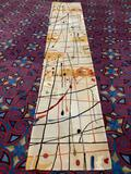 Modern Moment New Wave Collection abstract wool runner rug. 168x30 inches.