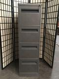 HON 4 drawer vertical file cabinet with keys. Approx 52x27x15 inches.