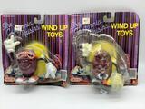 2 Vintage 1987 Nasta California Raisins wind up toys. One in unopened packaging.