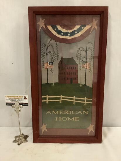 Framed print of American Home by artist Bill Jacob