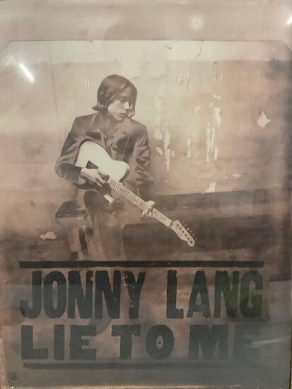 Johnny Lang - Lie To Me framed promotional album poster.