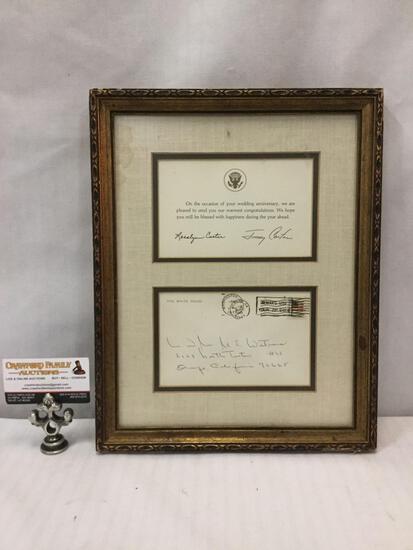 Vintage framed wedding correspondence from President Jimmy Carter/the White House