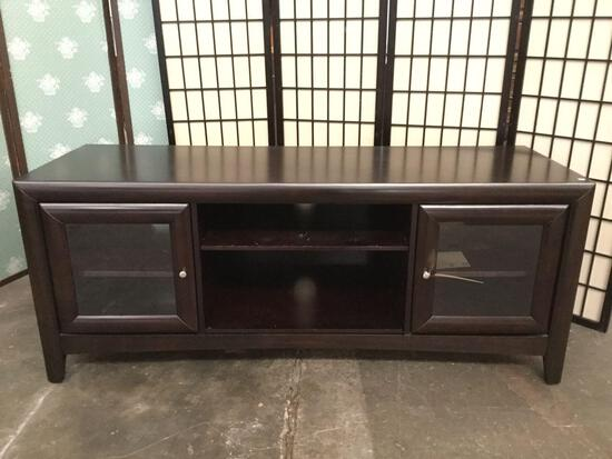 Modern entertainment center/ TV console, approx 20x59x24 inches.