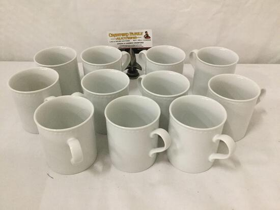 Lot of 11 Crate and Barrel - Staccato coffee cups
