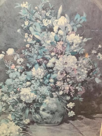 Spring Boquet by Pierre Renoir print, professionally matted and framed