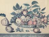 19th Century Fruit Bowl Painting by Jakob Schalter Print, professional frame