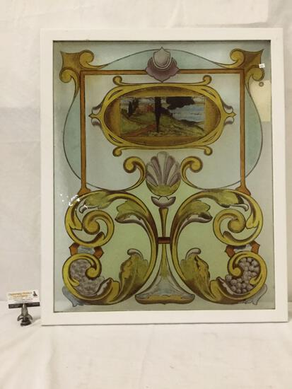 Stunning antique handmade stained glass window - believed to be from Scottish Castle