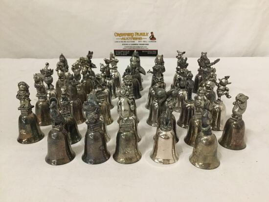 40x Silver plate Walt Disney character bells