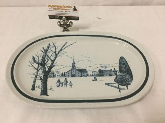 Noritake stoneware platter, colonial times 8340