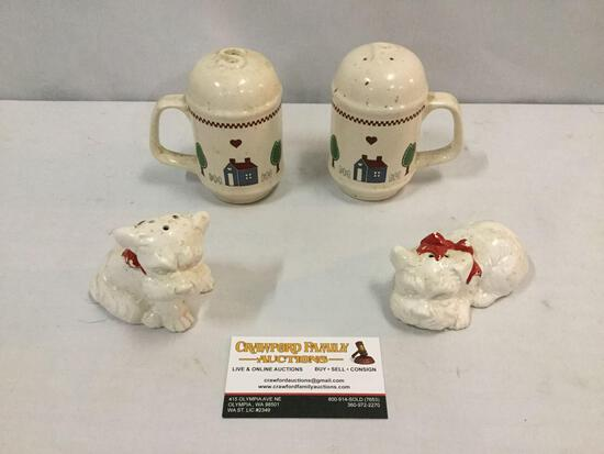 Two sets of salt & pepper shakers