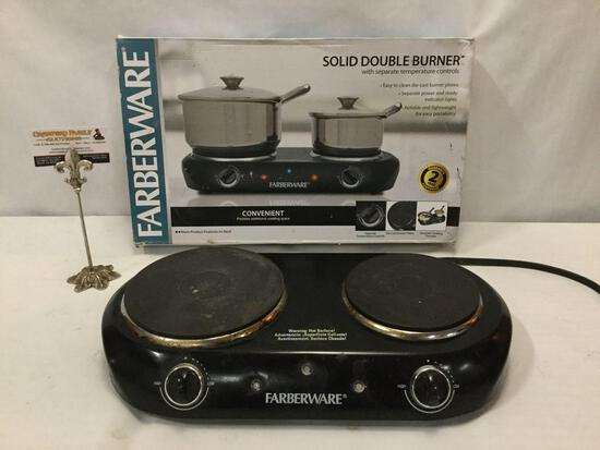 FABERWARE solid double burner hot plate No.HP202-D11 w/ box, tested & working