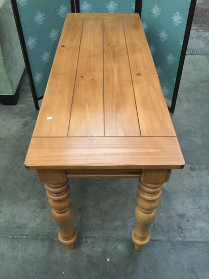 Modern pine hall table with rustic charm