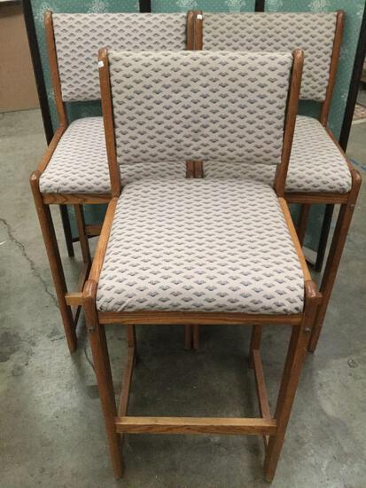 3x upholstered high chairs