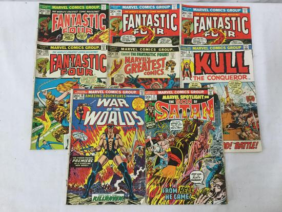 8 vintage Marvel Comics, Fantastic 4 issues 128, 133, and 134, Kull issue 5 and more see desc