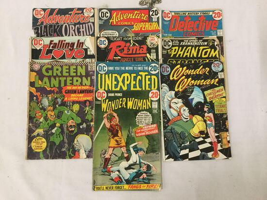10 vintage DC Comics incl. Green Lantern #46, Wonder Woman #202 & #208 , and so much more see desc
