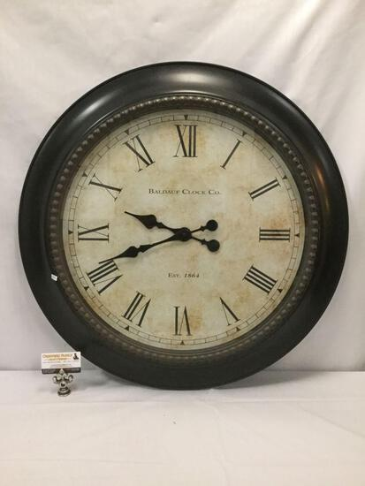Baldauf Clock Co. large wall clock. Approx 30x30 inches
