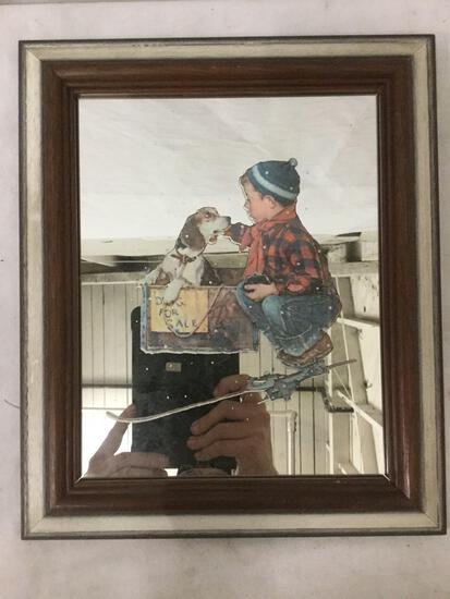Norman Rockwell framed mirror print
