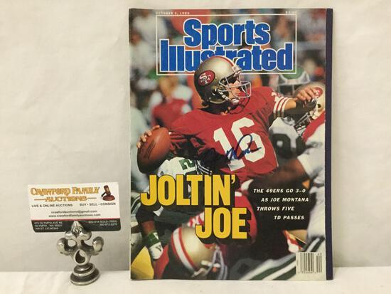 October 2, 1989 Sports Illustrated magazine Joe Montana signed / signature cover.