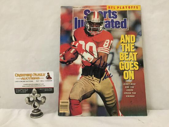 January 15, 1990 Sports Illustrated Magazine Jerry Rice signed/signature cover.