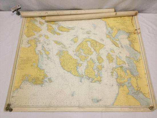 3x mid-century...U.S. Coast & Geodetic Survey maps of the Washington Puget Sound region