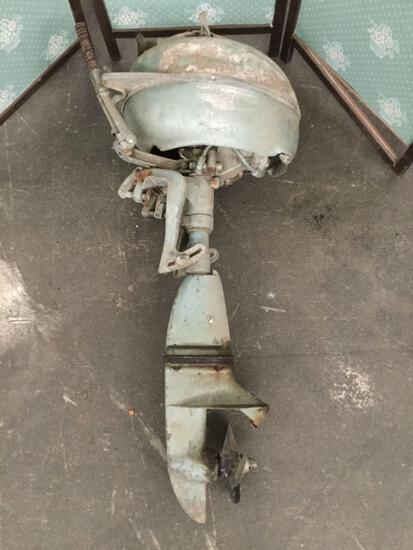 Johnson retro outboard boat motoro - fair cond as is untested