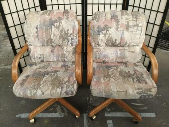 Pair of Douglas Furniture office chairs on casters