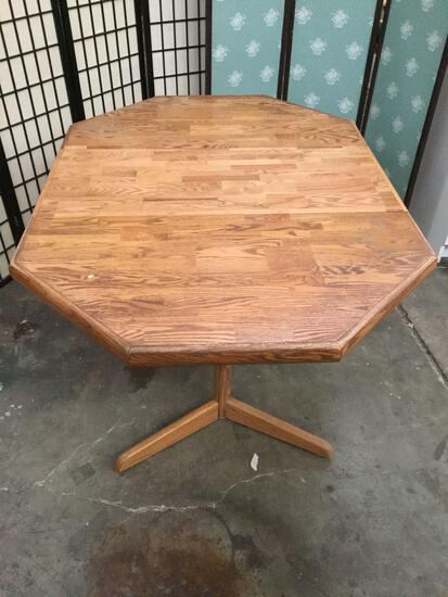 6-sided dinning table, approx. 60x42x29 inches