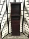 Modern cabinet with shelves. Approx 62x18x12 inches. 2125.1