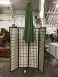 Metal base patio / lawn umbrella by Towa approx 68 inches.