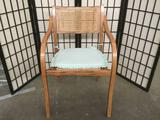 1960's mid century maple and cane/rush seated dining chair