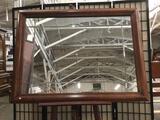 Large Carolina Mirror Company wall mirror, approx 36x48 inches
