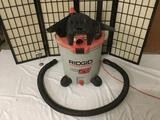Rigid Big 20 Gallon 6.25 HP shop vac vacuum cleaner No.WD20600 w/ hose attachments, tested & working