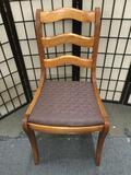 Vintage ladder back dining chair