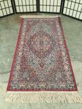 Antique Persian rug with colorful and classic design, good cond