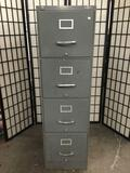 Globe Wernicke 4-drawer metal filing cabinet, made in U.S.A