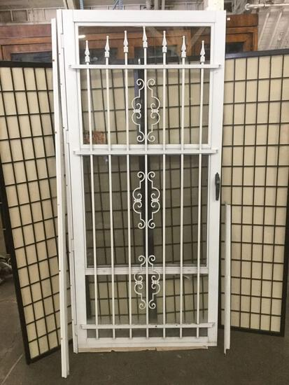 Screen / security Door w/ metal bars