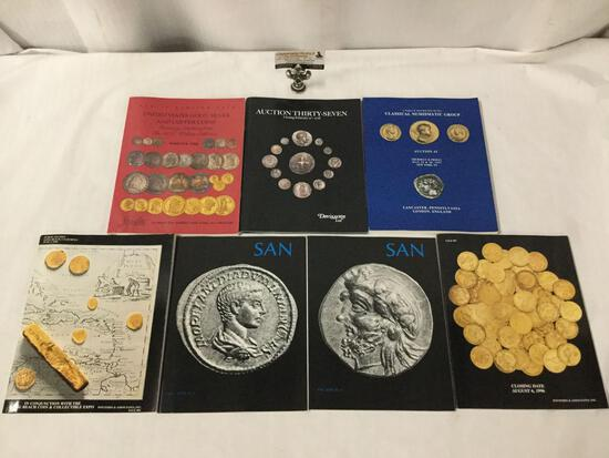 Collection of seven rare coin catalogs for world, US and ancient coins