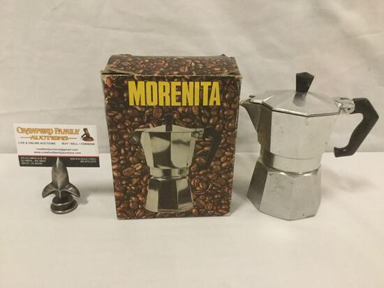 Morenita Coffee Maker w/ original box, nice condition w/ paperwork.