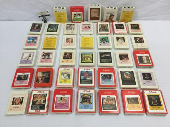 40 8-track cassette cartridges; country music