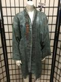 Hand Arts by Pam custom ladies robe/top with earthy tones and floral designs