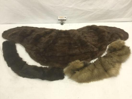 Collection of vintage fur stoles
