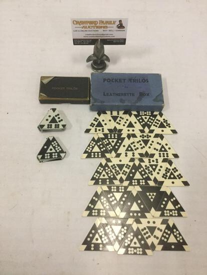 2 Vintage game sets of Pocket Trilos in original boxes.