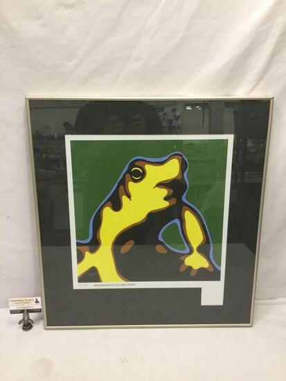 Panamanian Golden Frog framed art print by Troy Gua #ed 24 of 70