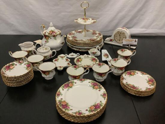 Huge collection of ROYAL ALBERT English Bone China - Old Country Roses pattern
