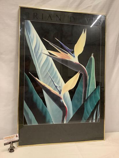 Framed San Antonio museum of art, San Antonio Texas, Brian Davis gallery show poster