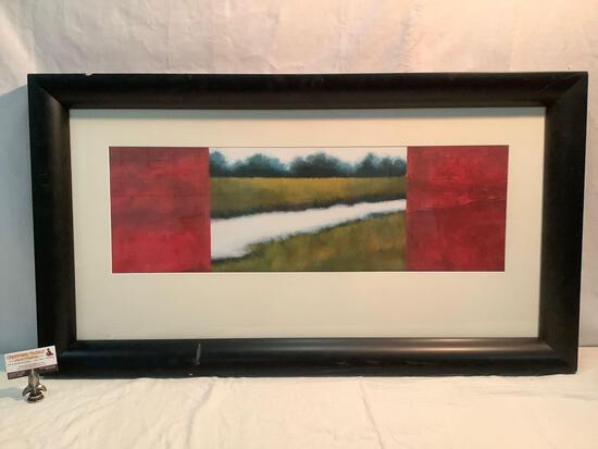 Large framed print by Hillary Reed Interiors