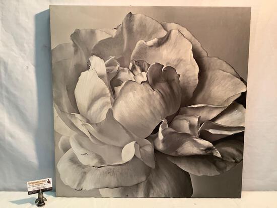 Large embellished canvas monochrome print home decor artwork by Barbara Mocellin