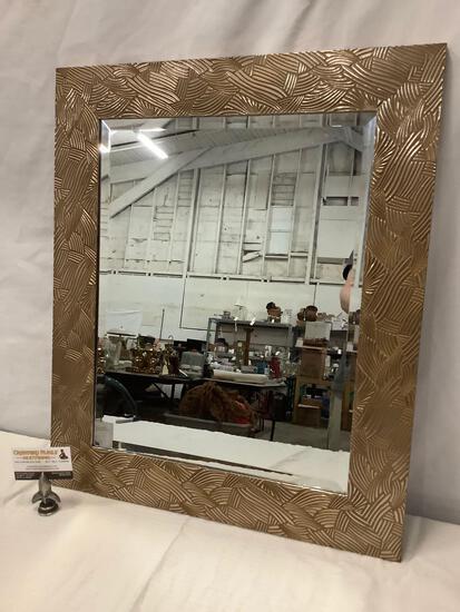 Modern wall hanging mirror w/ decorative frame