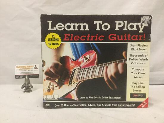 Learn To Play Guitar 12 DVD musical instruction set in box